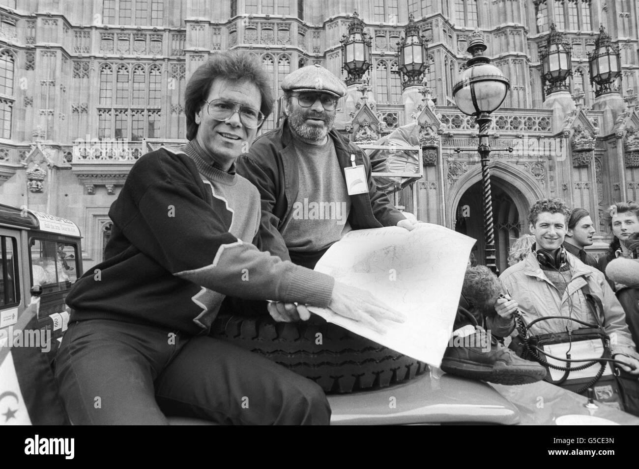 Charity - Sahara Drive - Bob Hoskins - London - Stock Image
