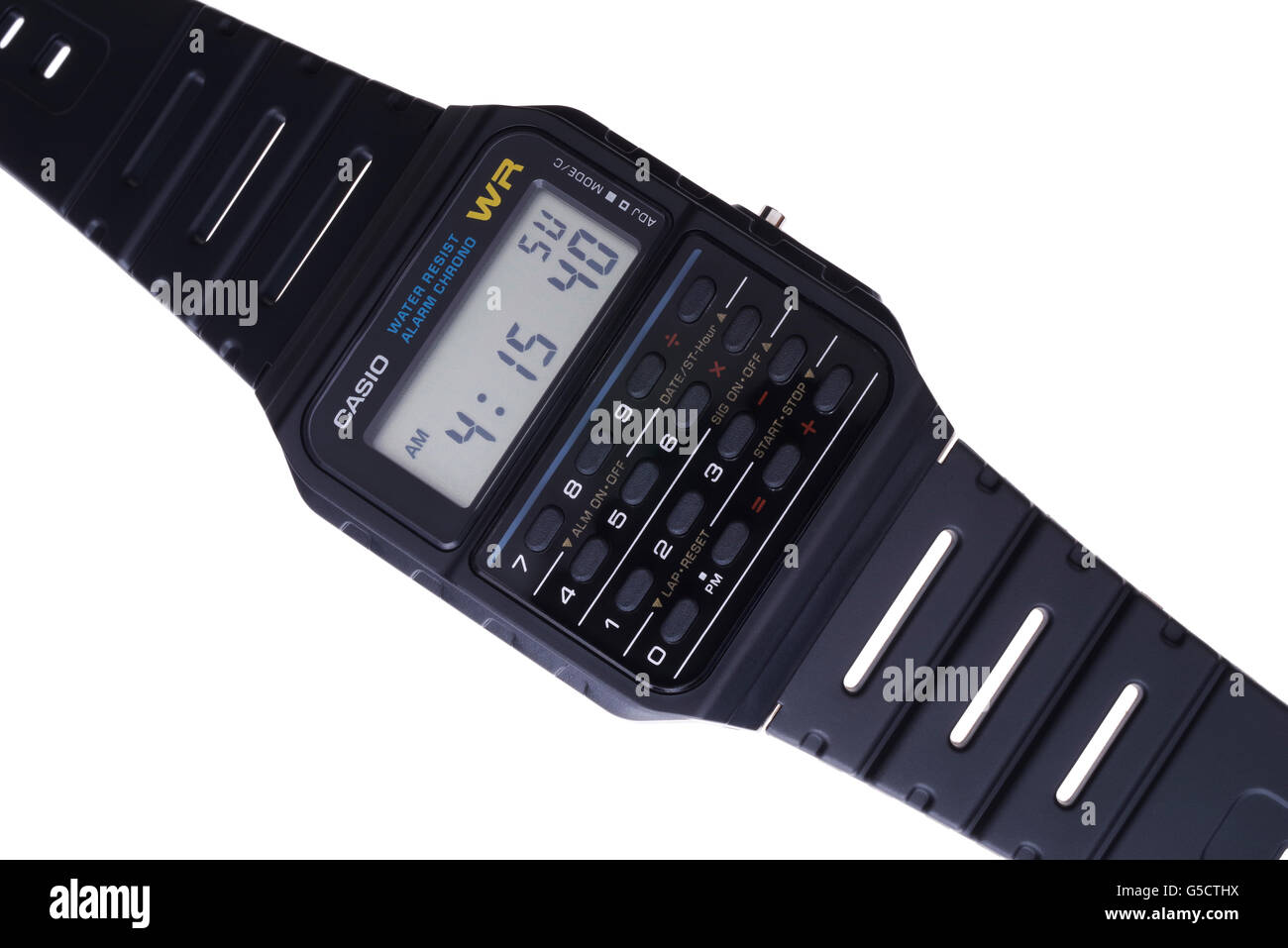 Casio databank calculator watch CA-53W-1Z 80's icon - Stock Image