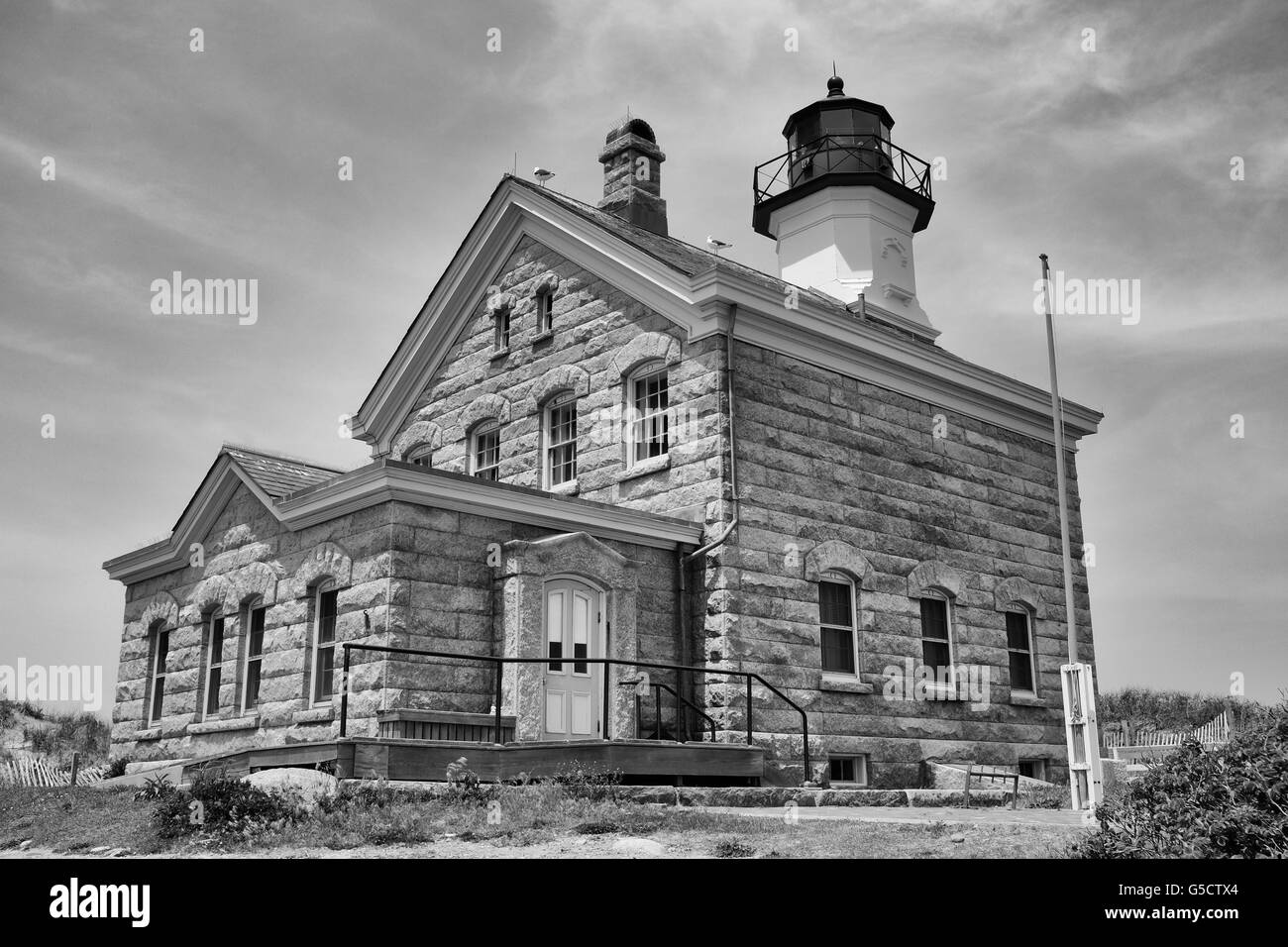 North Light Lighthouse, Block Island, Rhode Island - Stock Image