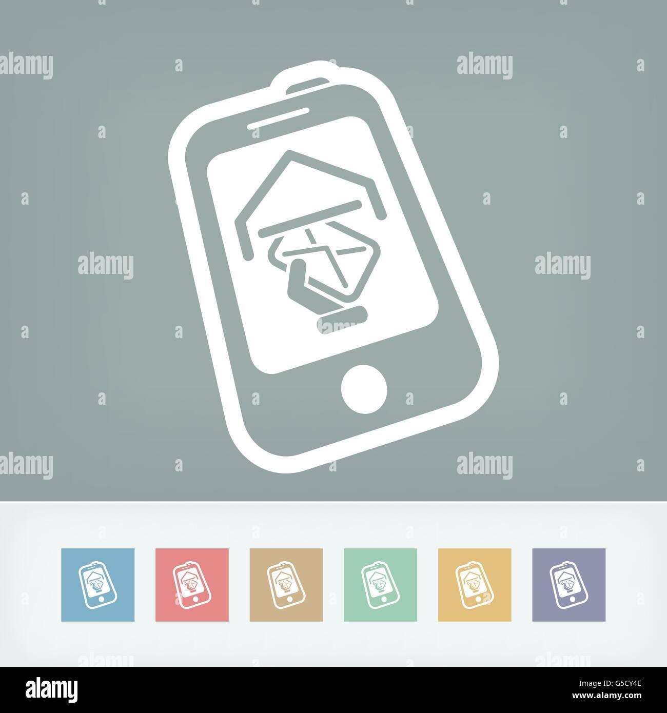 Smartphone e-mail icon - Stock Image