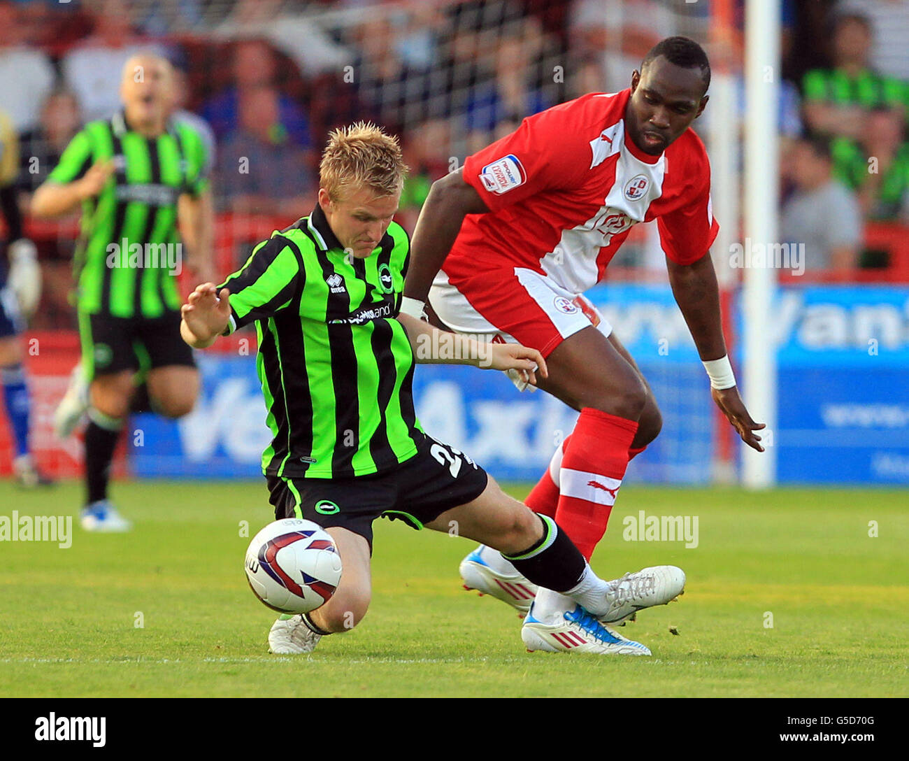 Soccer - Pre Season Friendly - Crawley Town v Brighton & Hove Albion - Broadfield Stadium - Stock Image