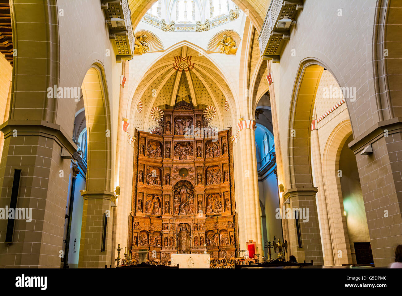 The Cathedral of Teruel, entitled to St. Mary, it is a notable example of Mudéjar architecture. - Stock Image