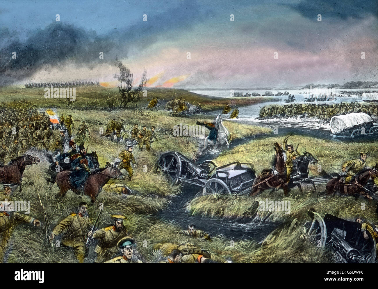 Episode aus der Schlacht bei Tannenberg. Site of the battle of Tannenberg. Germany, war, World War, WWI, 1, history, - Stock Image