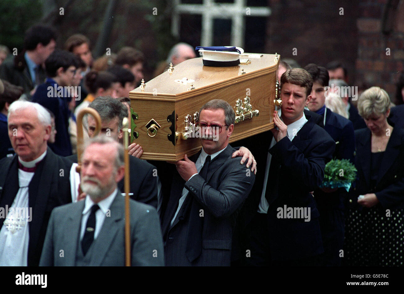TIM PARRY FUNERAL - Stock Image