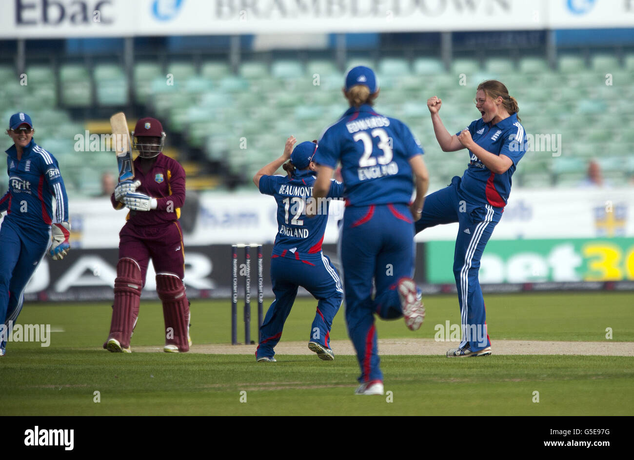 Cricket - First NatWest Women's T20 - England v West Indies - Emirates Durham ICG - Stock Image