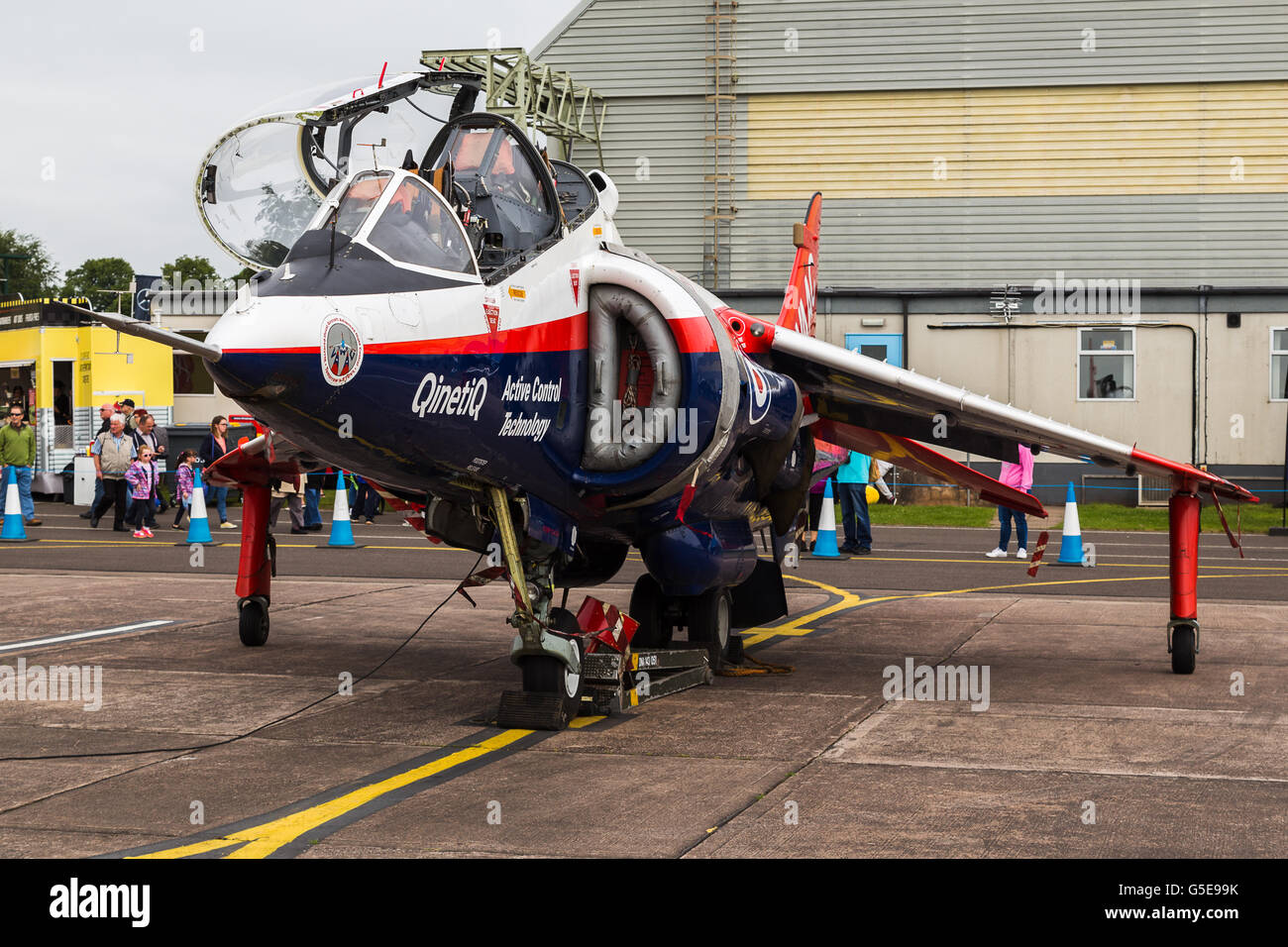 QinetiQ Harrier with its canopy up - Stock Image