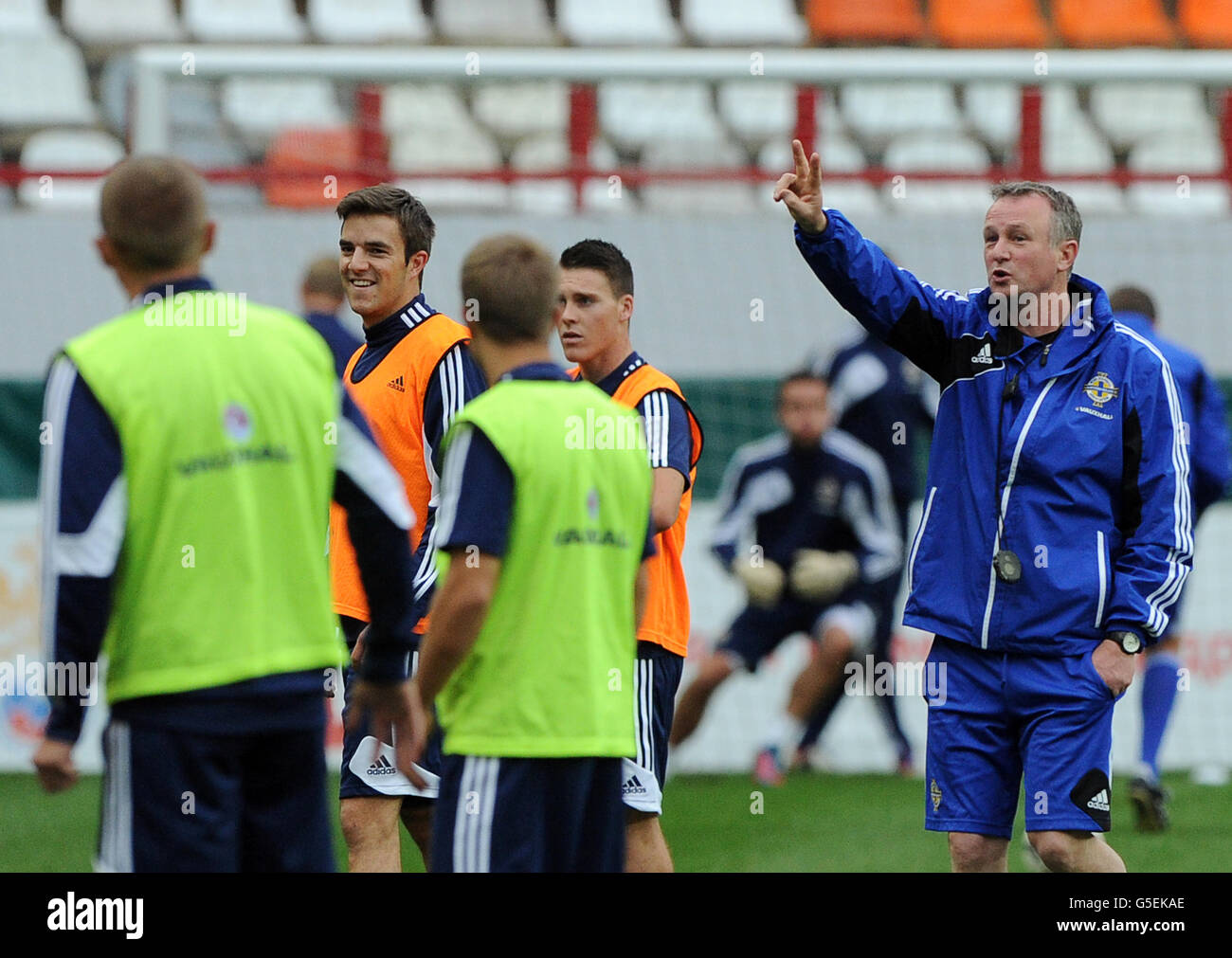 Soccer - 2014 World Cup - Qualifier - Group F - Russia v Northern Ireland - Northern Ireland Training - Lokomotiv - Stock Image
