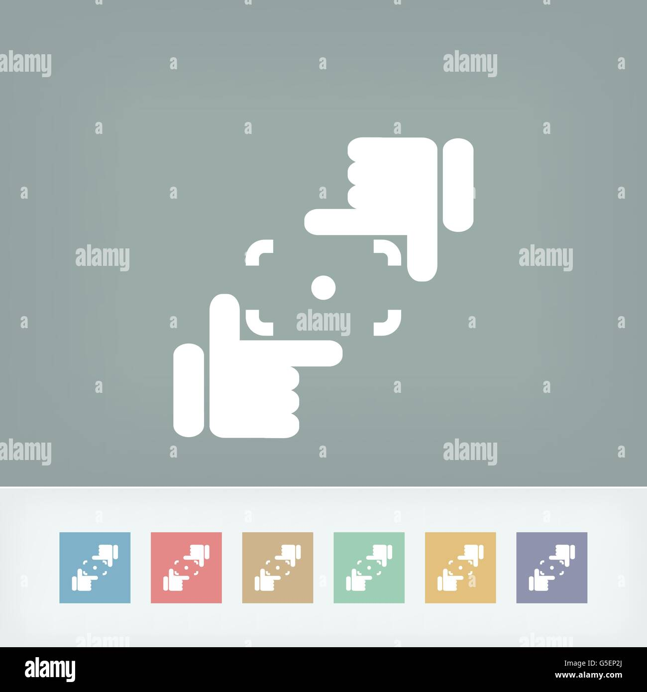 Camera lens simulation icon - Stock Vector