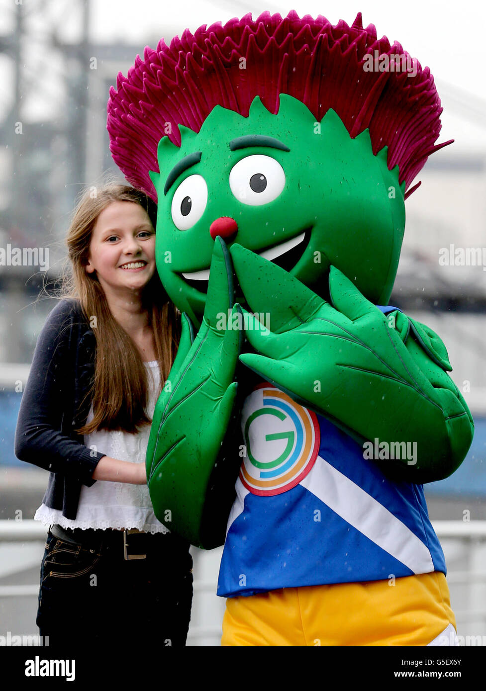 pictured is mascot designer 12 year old beth gilmour from