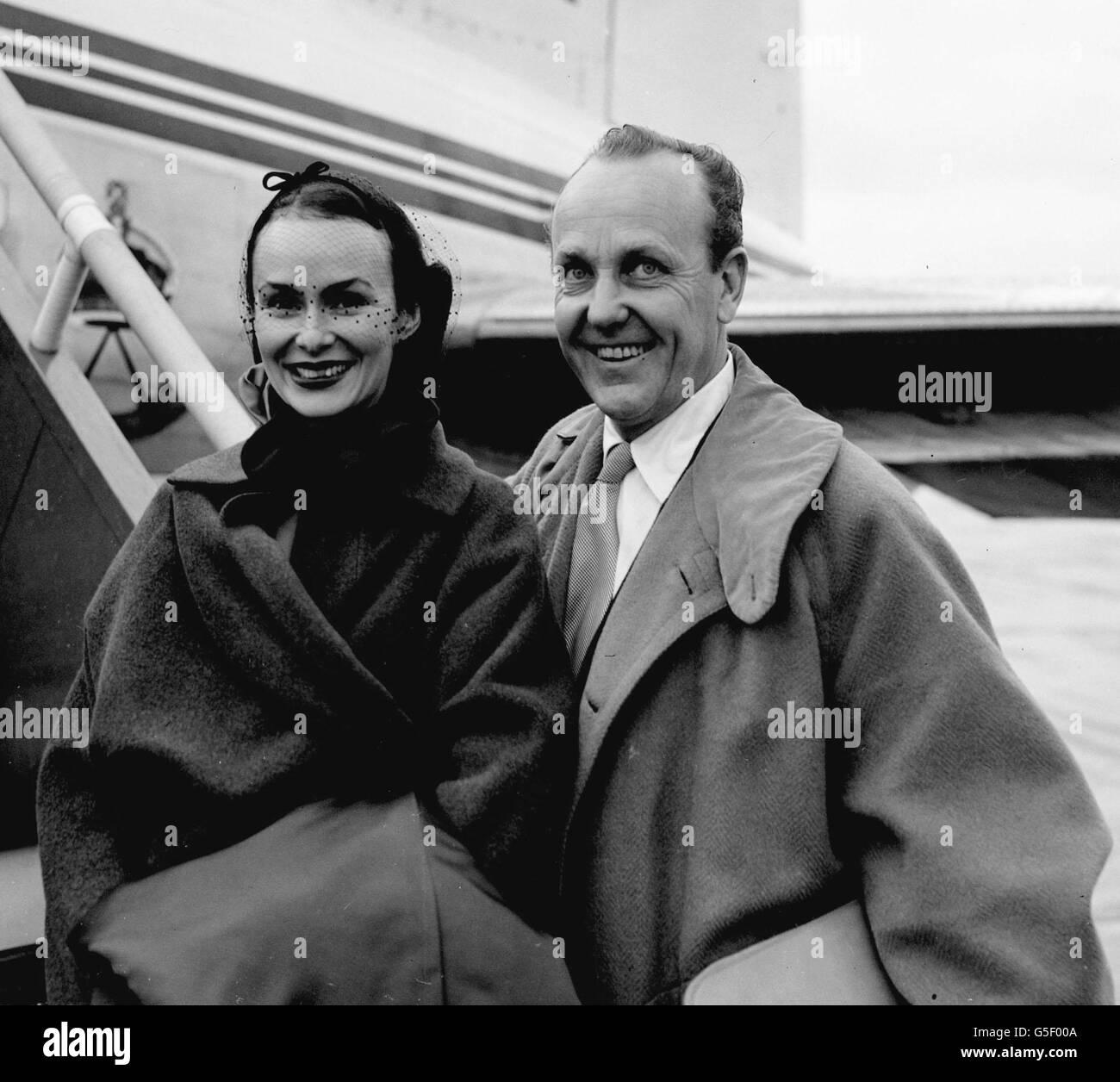 William Randolph Hearst Jr And Wife Stock Photo Alamy