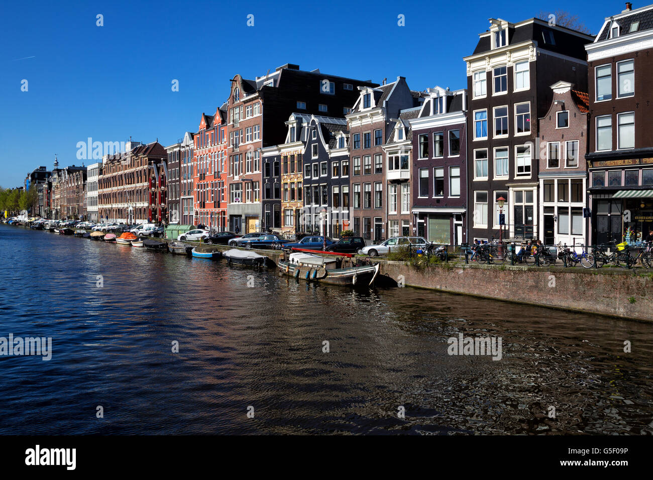 Prinsengracht in downtown Amsterdam, Netherlands in spring. - Stock Image