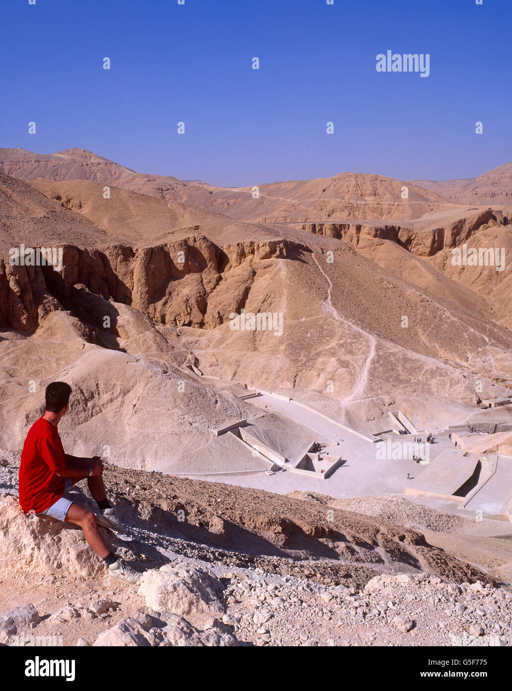 Valley of the Kings, West Bank, Luxor, Egypt - Stock Image