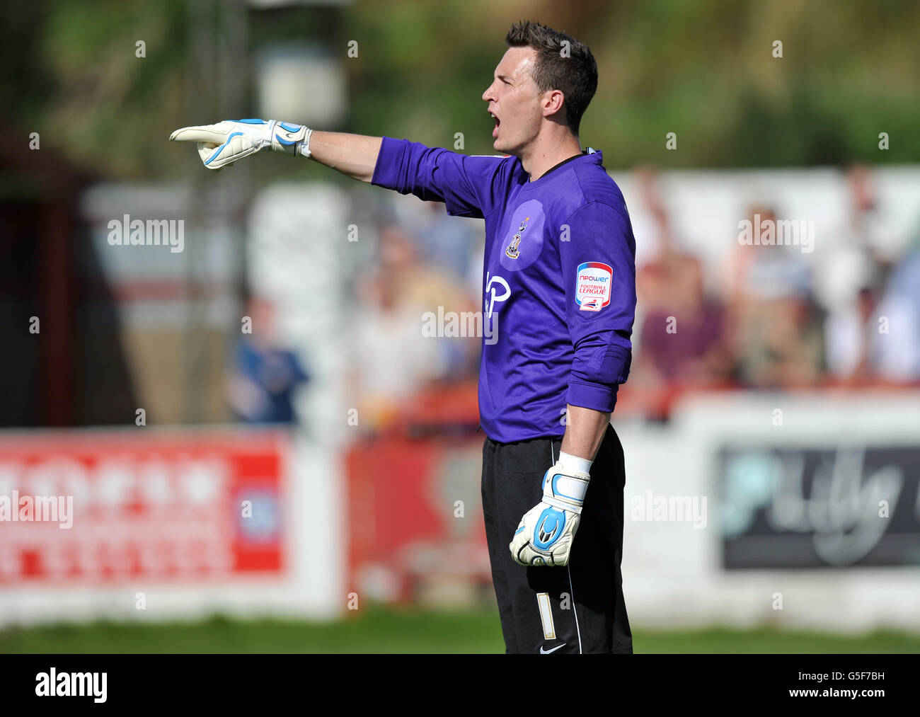 Soccer - npower Football League Two - Accrington Stanley v Bradford City - The Crown Ground - Stock Image