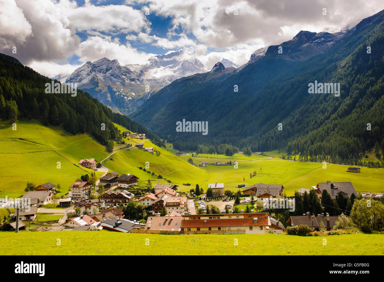 small village Rein in south Tyrol - Stock Image