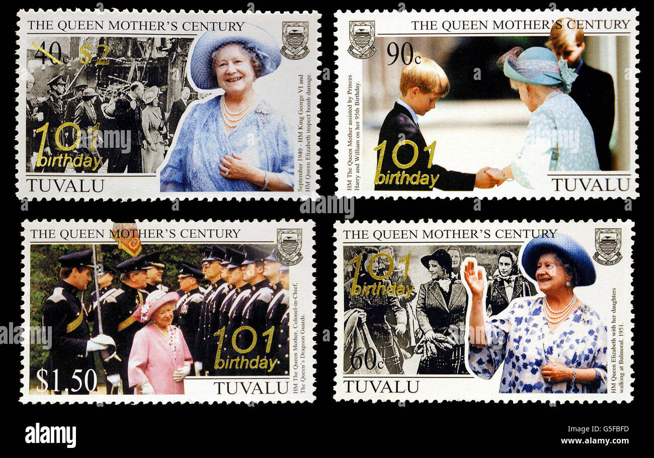 The Queen Mother101st Birthday Stock Photo