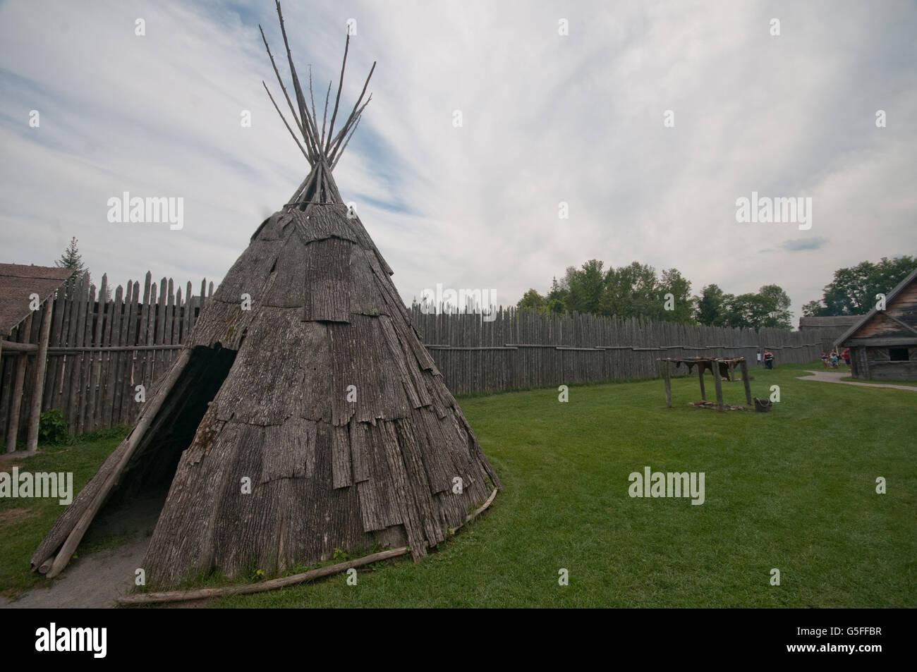 North America, Canada, Ontario, Sainte-Marie among the Hurons - Stock Image