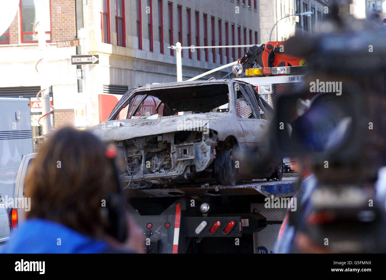 Aftermath of NY disaster/ car - Stock Image