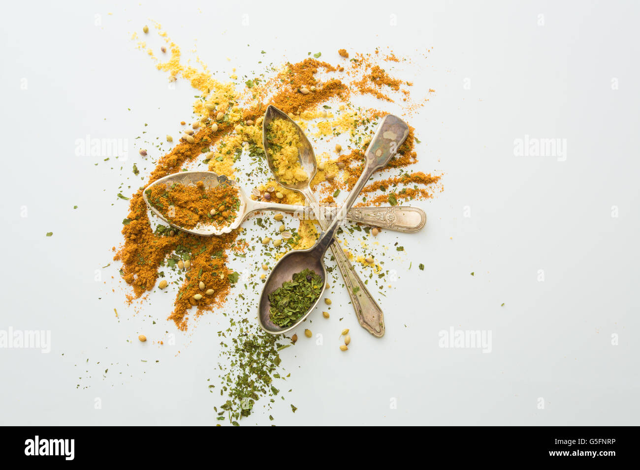 spoonfuls of colour and taste - Stock Image