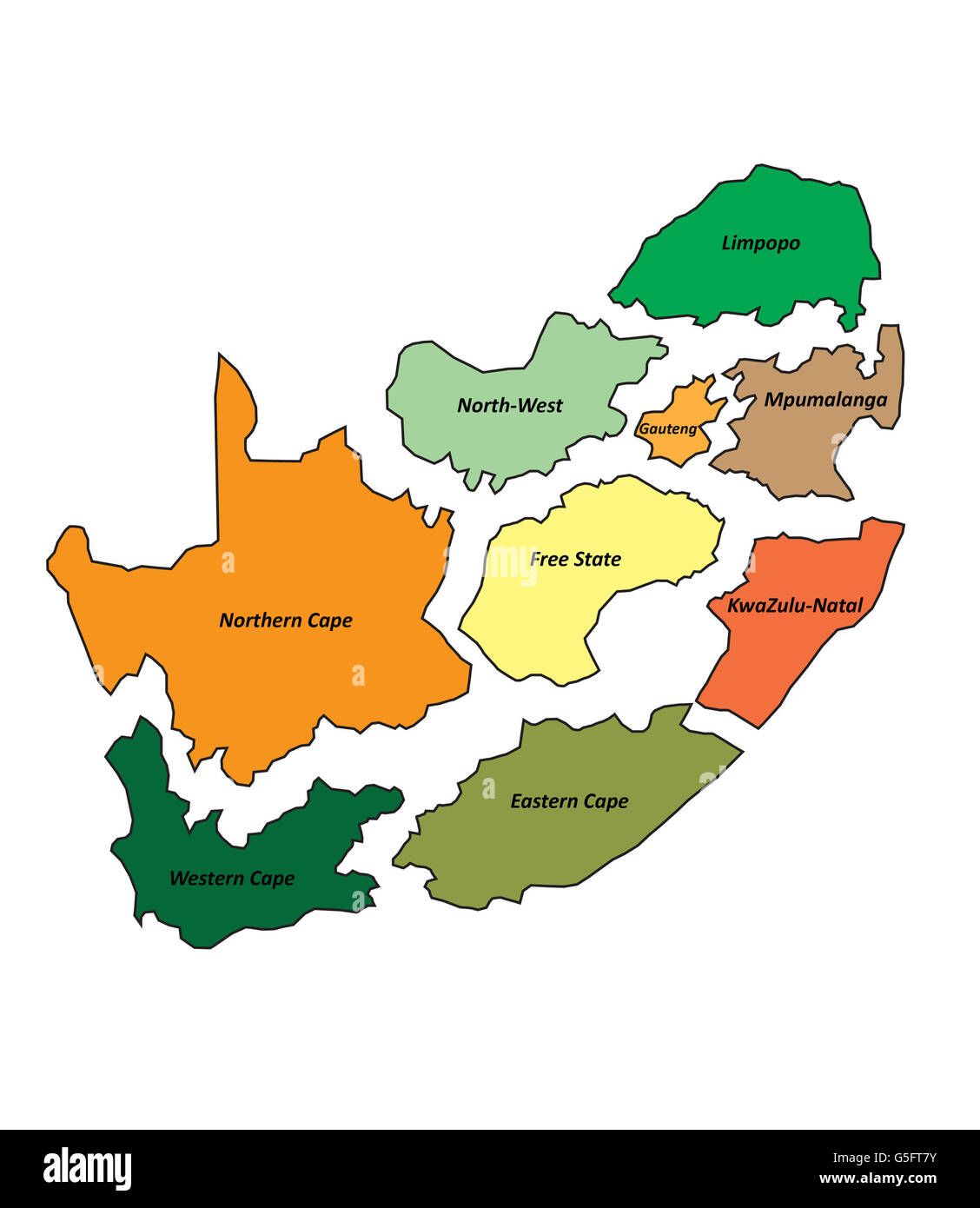 Puzzle pieces africa cut out stock images pictures alamy map of south africa stock image gumiabroncs Image collections