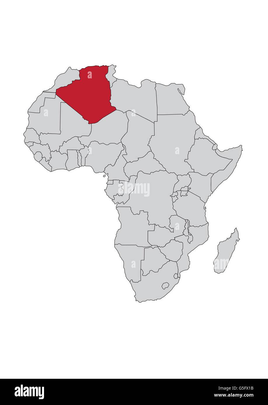 algeria on africa map Map Of Africa Algeria Stock Photo Alamy algeria on africa map