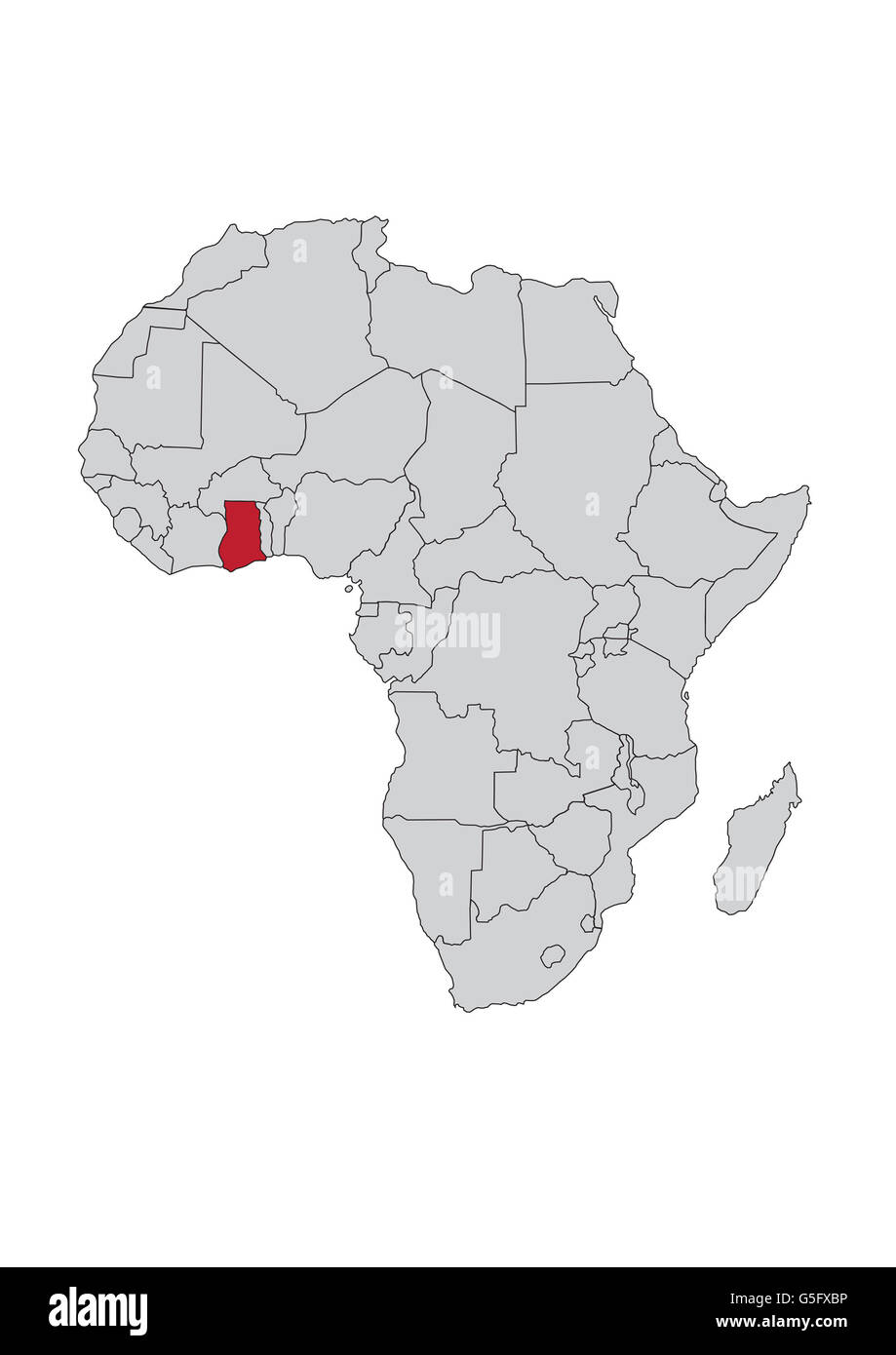 Map Of Africa With Ghana.Map Of Africa Republic Of Ghana Stock Photo 106685482 Alamy