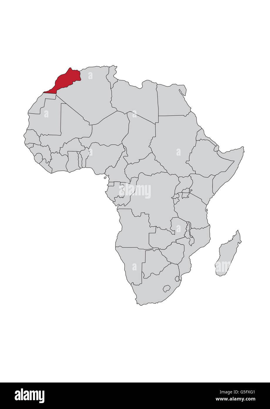 morocco on map of africa Map Of Africa Morocco Stock Photo Alamy morocco on map of africa