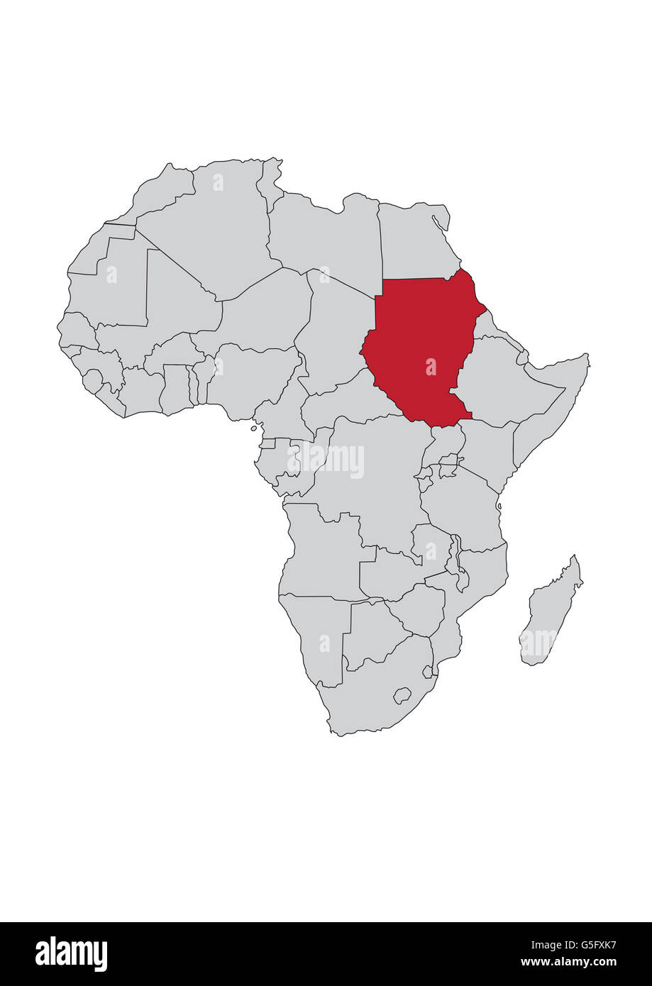 sudan map in africa Map Of Africa Sudan Stock Photo Alamy sudan map in africa