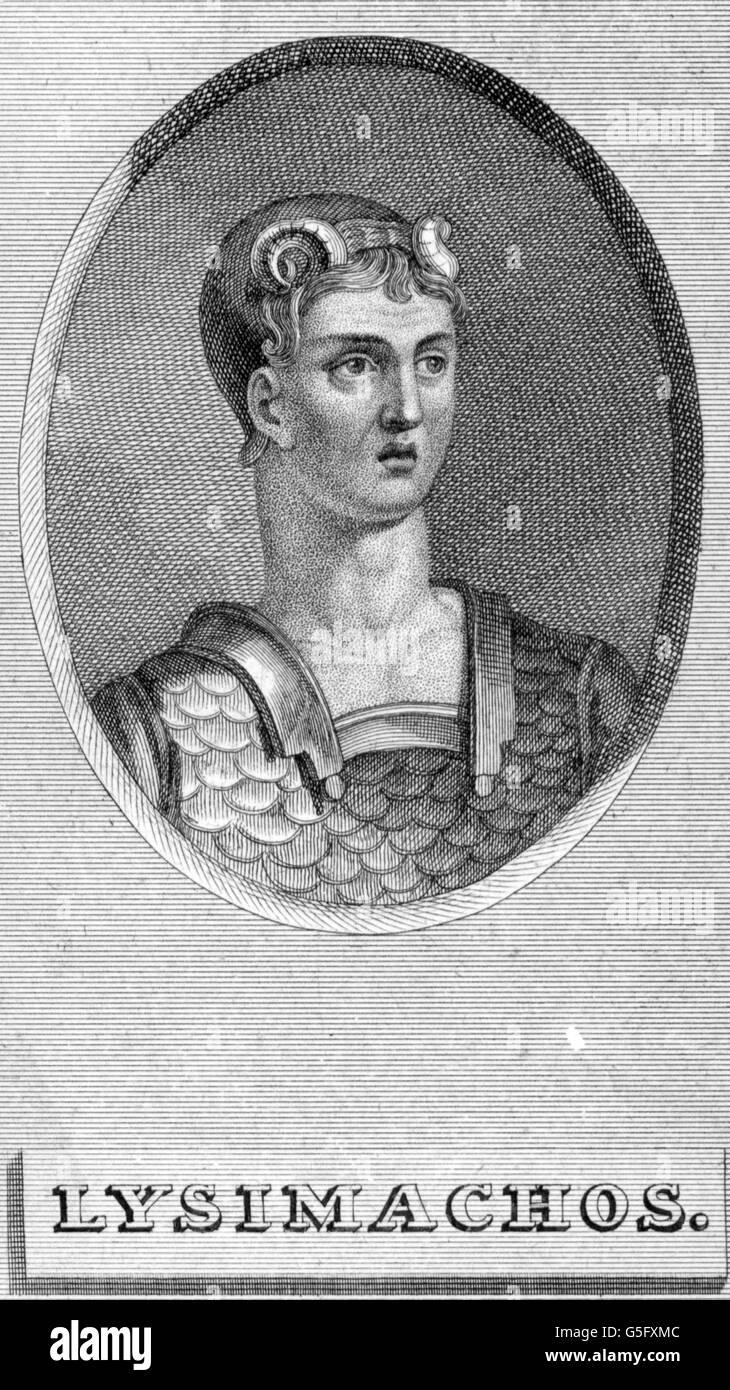 Lysimachus, King of Macedon - Stock Image
