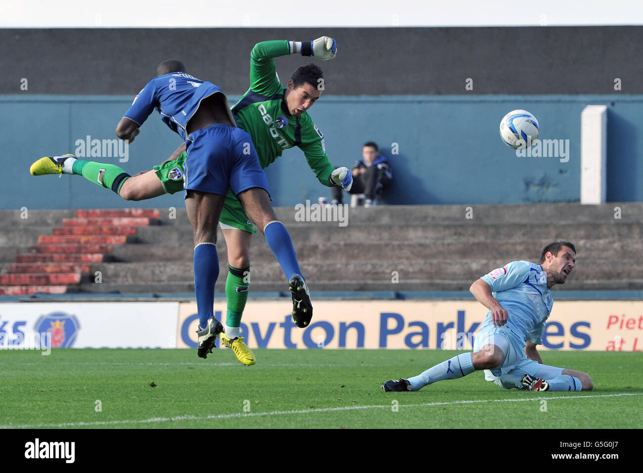 Soccer - npower Football League One - Oldham Athletic v Coventry City - Boundary Park - Stock Image