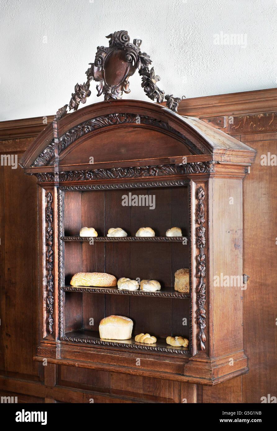 All Hallows Twickenham, formerly All Hallows Lombard Street:  Bread shelves - Stock Image