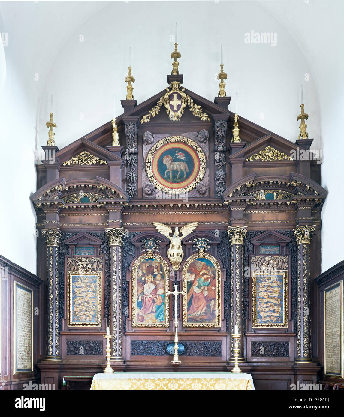 All Hallows Twickenham, formerly All Hallows Lombard Street: the Reredos - Stock Image