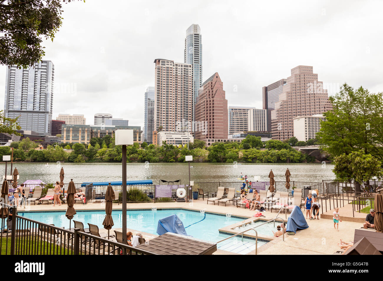 View of Austin Downtown Skyline - Stock Image