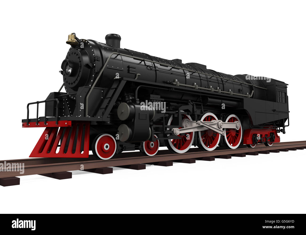 Steam Locomotive Train Stock Photo