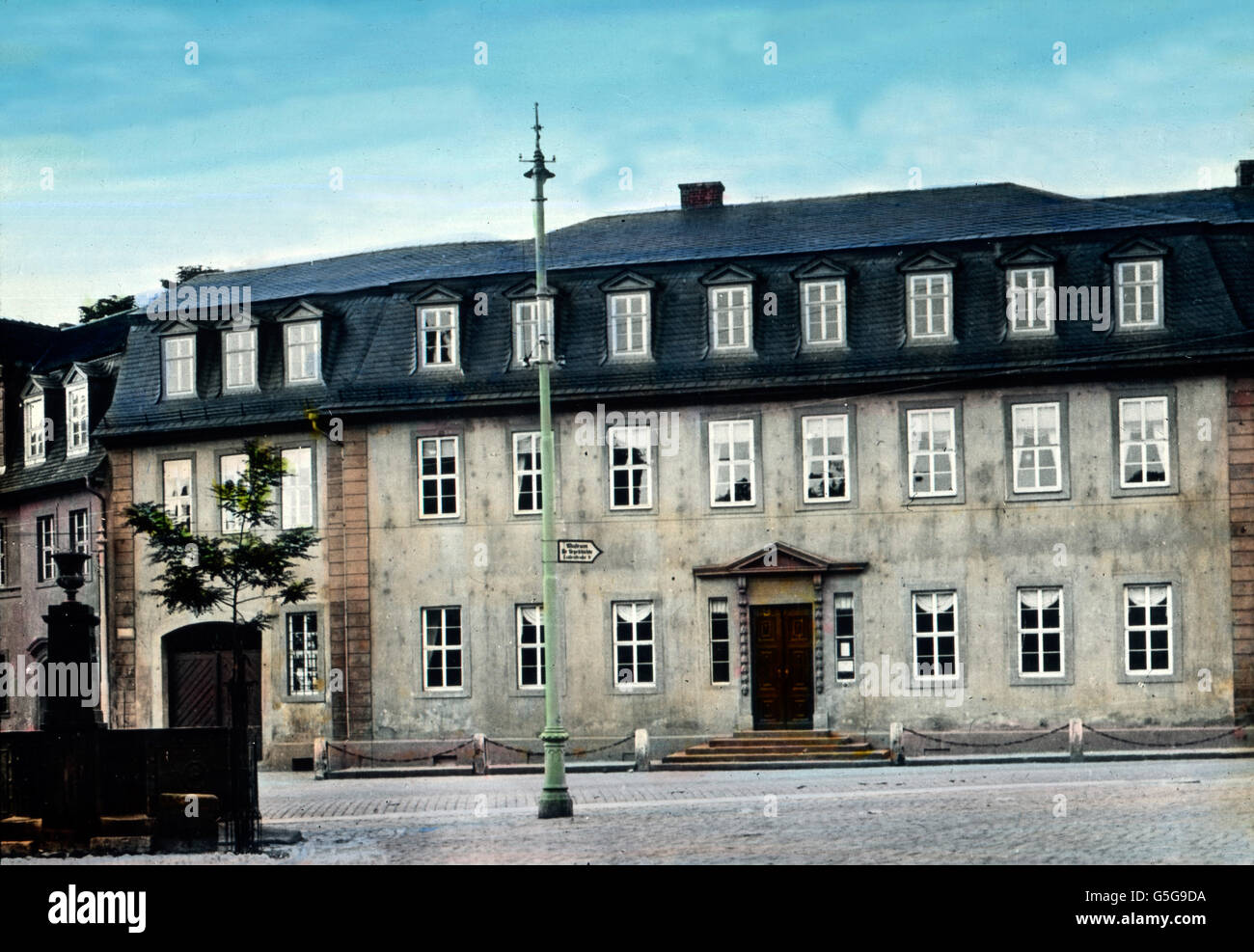 Goethe Nationalmuseum in Weimar. National Goethe Museum at Weimar. architecture, buidling, culture, archive, archival, - Stock Image