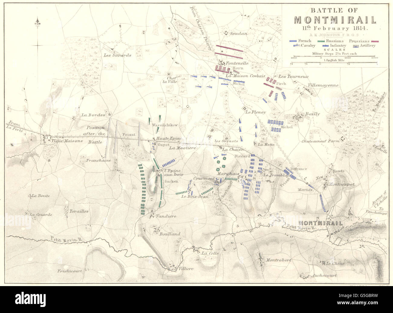 Battle Of Montmirail 11th February 1814 France Napoleonic Wars