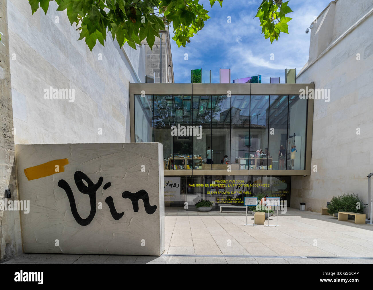 Vincent van Gogh museum in Arles - Stock Image