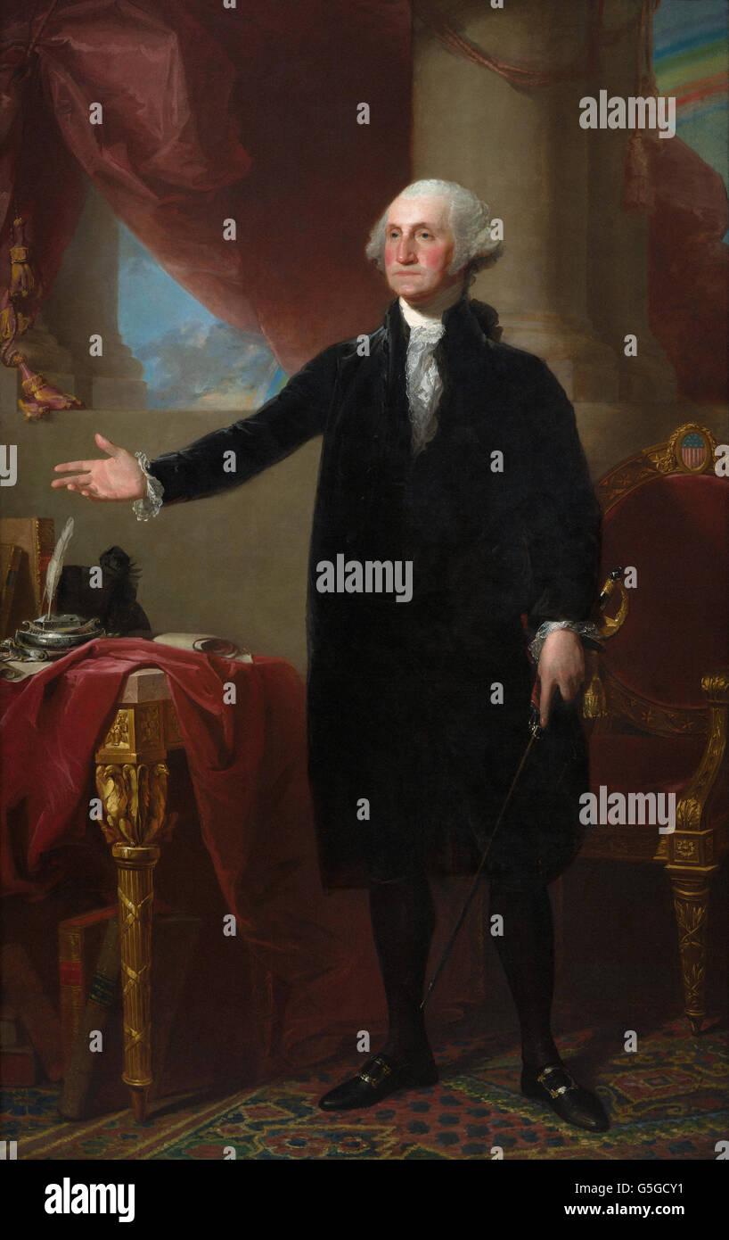 Gilbert Stuart - George Washington (Lansdowne Portrait) Stock Photo