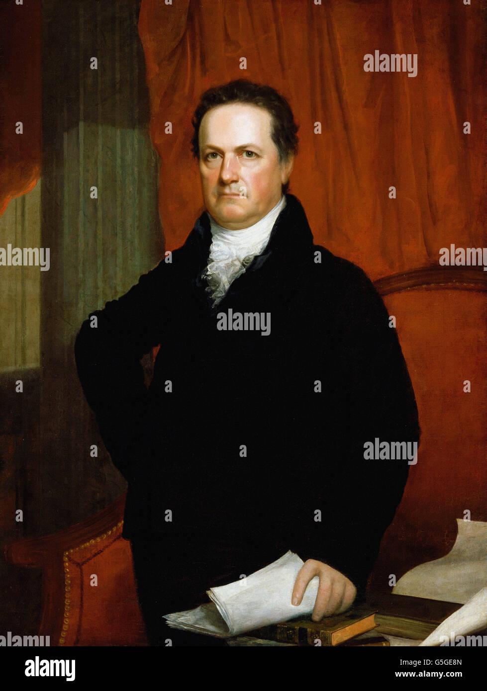 John Wesley Jarvis - Portrait of DeWitt Clinton (ca. 1816) - Stock Image
