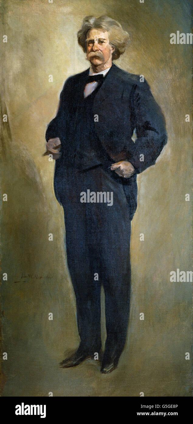 John White Alexander - Samuel L. Clemens (Mark Twain) (1912 or 1913) - Stock Image