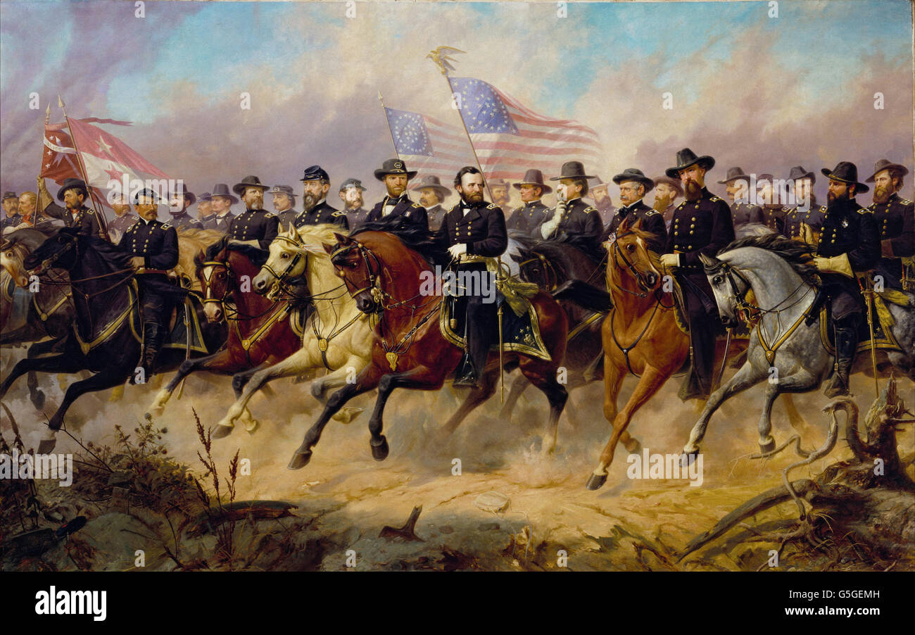 Ole Peter Hansen Balling - Grant and His Generals - Stock Image