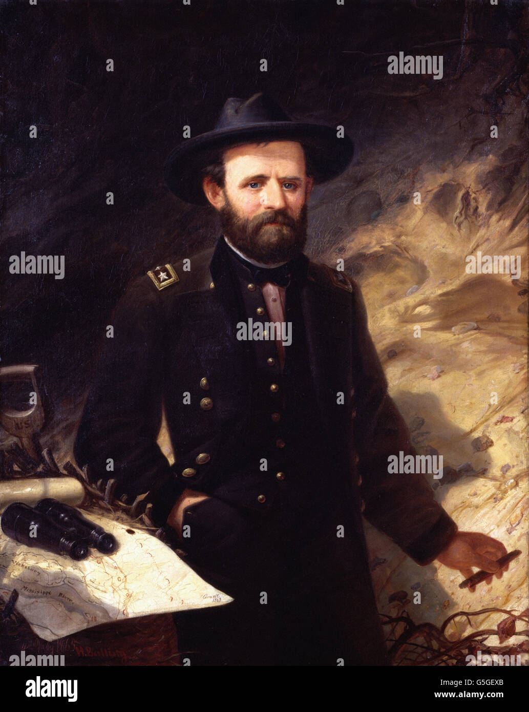 Ole Peter Hansen Balling - Ulysses S. Grant - Stock Image