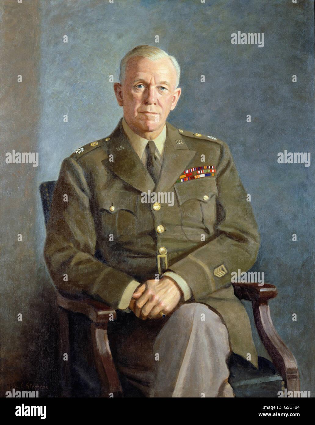 Thomas Edgar Stephens - George C. Marshall - Stock Image