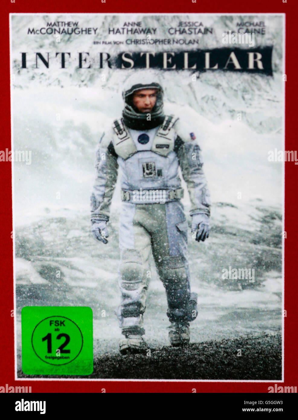 Filmplakat zum Spielfilm 'Interstellar', Berlin. - Stock Image