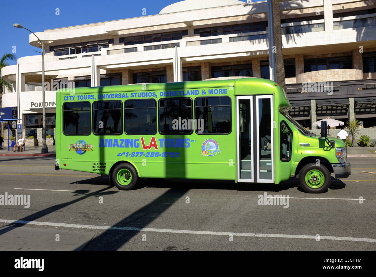 Amazing LA Tours, Tour Bus, Los Angeles. - Stock Image