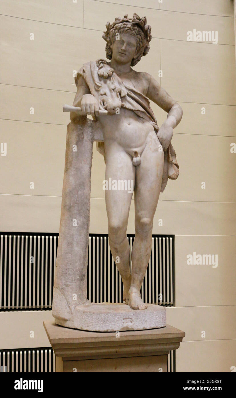 Skulptur/ Bueste: Satyr, Berlin. - Stock Image