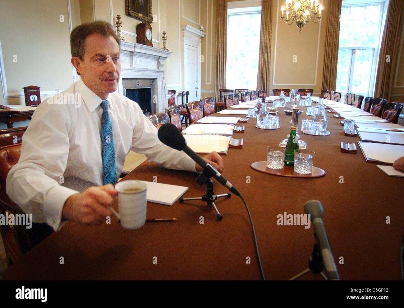 Tony Blair BBC World Service Interview - Stock Image