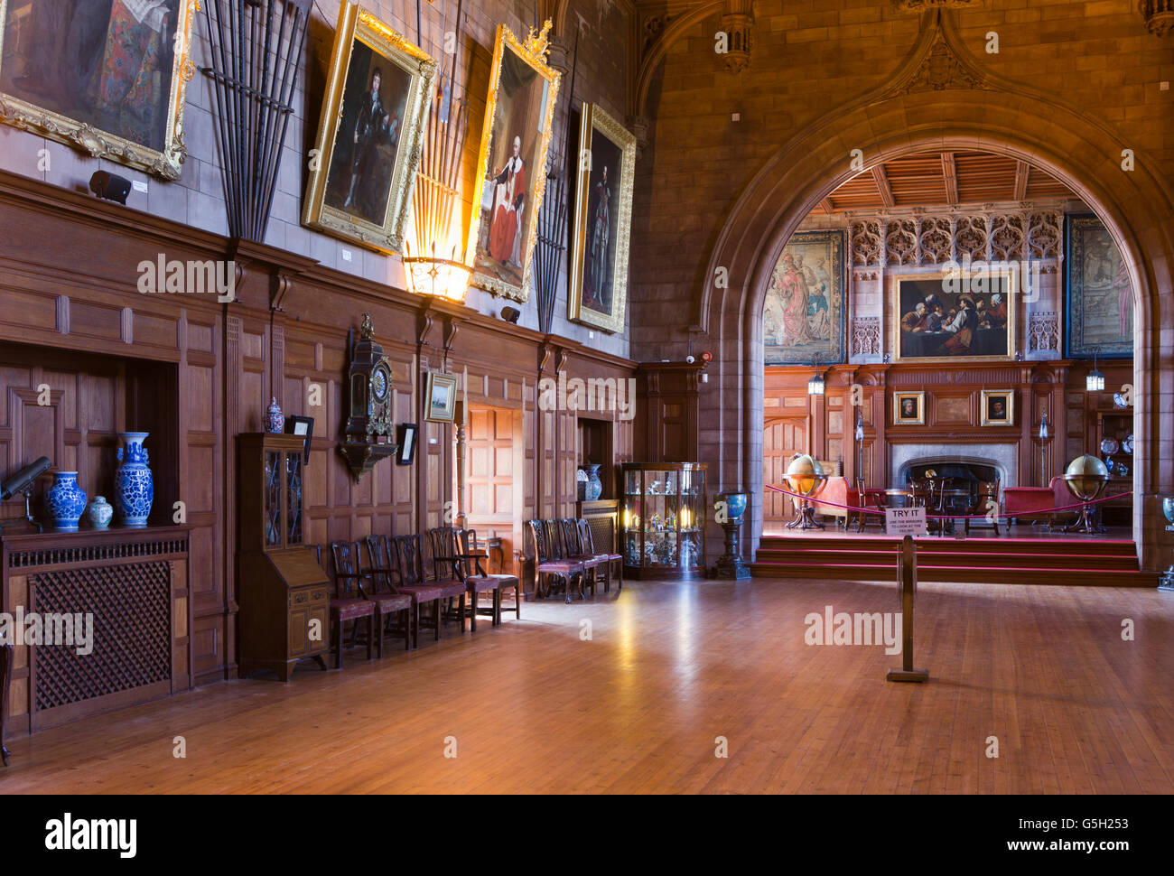 uk england northumberland bamburgh castle interior king s hall