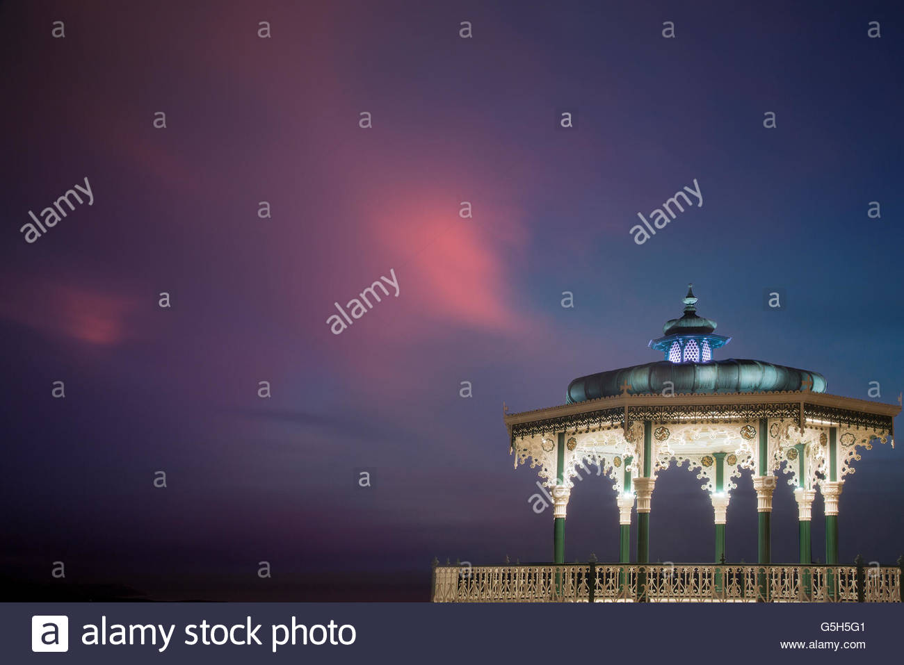 Bandstand, Brighton in late evening light. Stock Photo