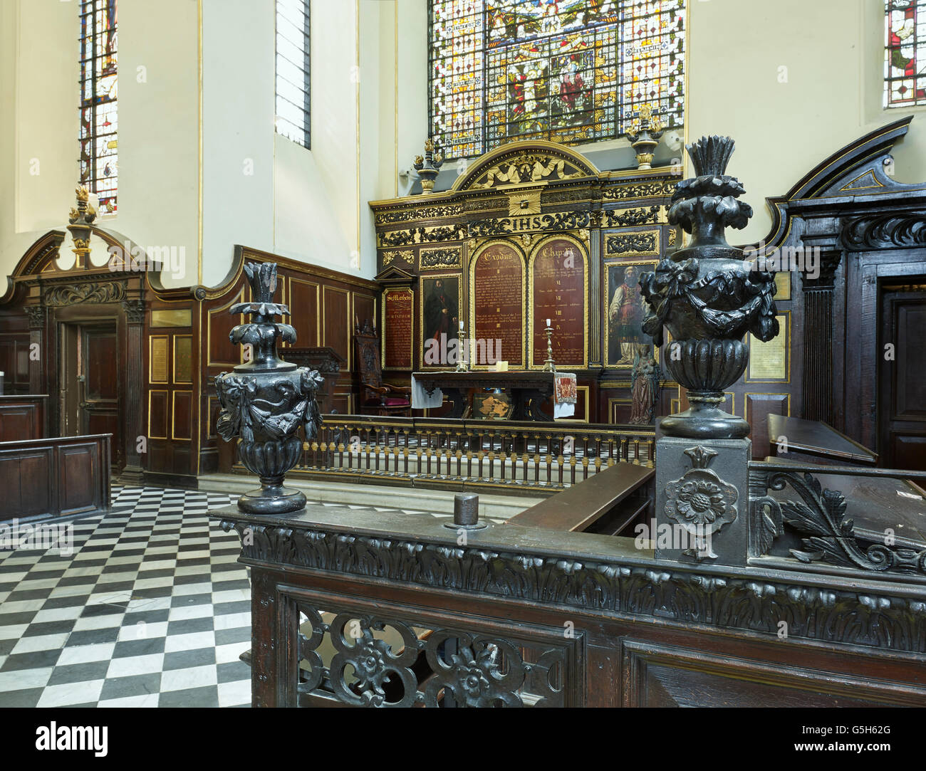 St Edmund King and Martyr, Church in the City of London, interior - Stock Image