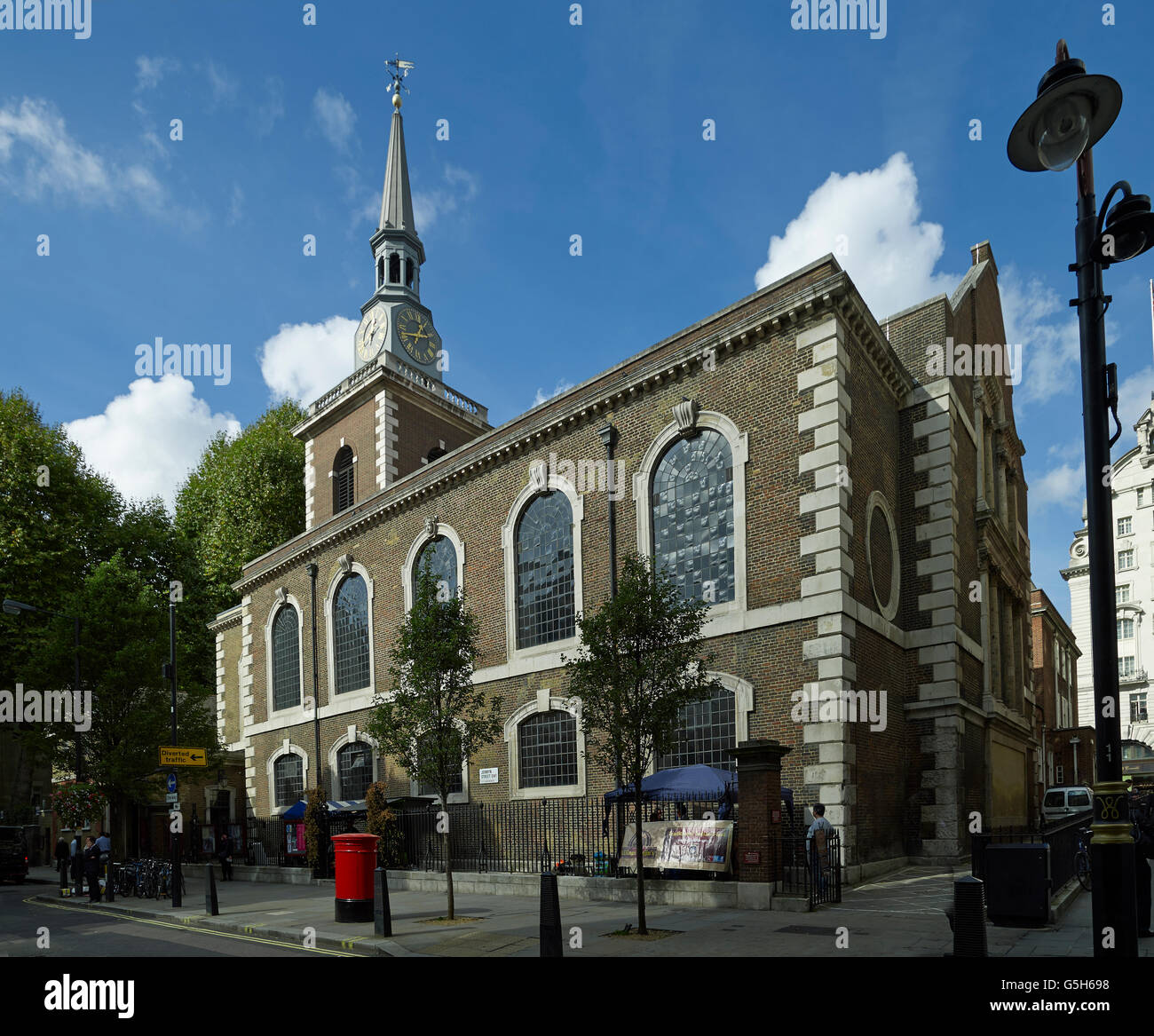 St James's PIccadilly, church in London by Christopher Wren. - Stock Image